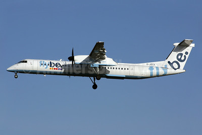 Flybe (British European 2nd) Bombardier DHC-8-402 (Q400) G-JECX (msn 4155) LGW (Antony J. Best). Image: 902095.