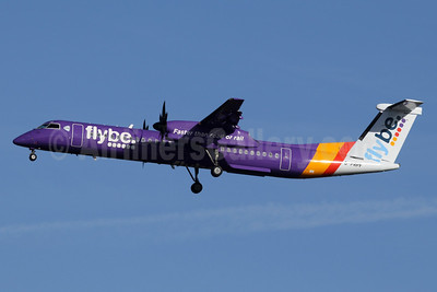 Flybe (British European 2nd) Bombardier DHC-8-402 (Q400) G-PRPF (msn 4195) LHR (SPA). Image: 940957.
