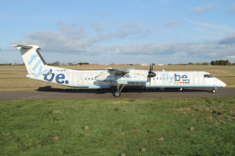 Flybe (British European 2nd) Bombardier DHC-8-402 (Q400) G-ECOF (msn 4216) GCI (Nick Dean). Image: 945159.