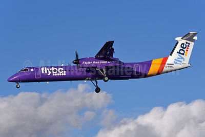Flybe (British European 2nd) Bombardier DHC-8-402 (Q400) G-PRPL (msn 4380) LCY (Rolf Wallner). Image: 944446.