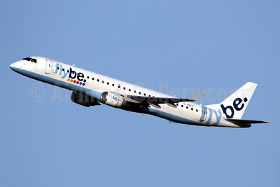 Flybe (British European 2nd) Embraer ERJ 190-200LR (ERJ 195) G-FBEK (msn 19000168) LGW (SPA). Image: 944999.