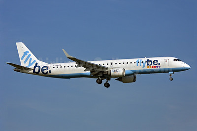 Flybe (British European 2nd) Embraer ERJ 190-200LR (ERJ 195) G-FBEC (msn 19000069) LGW (Keith Burton). Image: 901495.