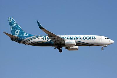 Flyglobespan.com (Globespan Airways) Boeing 737-8BK WL G-CEJP (msn 29646) (Oman Air colors) PMI (Eurospot). Image: 903268.