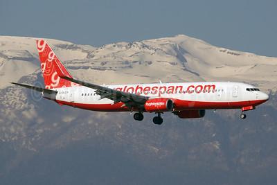 Flyglobespan.com (Globespan Airways) Boeing 737-8Q8 WL G-DLCH (msn 30040) GVA (Paul Denton). Image: 920416.