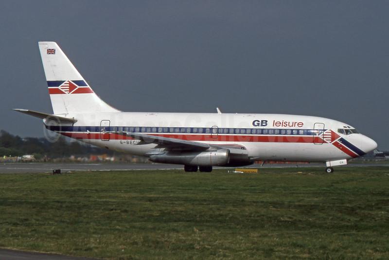 GB leisure (GB Airways) Boeing 737-204 G-BECH (msn 21336) LGW (SPA). Image: 932119.
