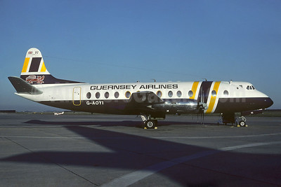 Guernsey Airlines Vickers Viscount 806 G-AOYI (msn 257) (British Air Ferries colors) (Christian Volpati Collection). Image: 923554.