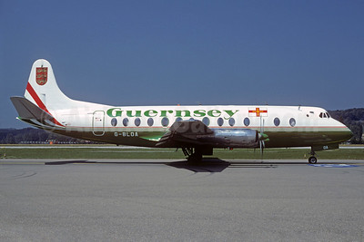 Guernsey Airlines Vickers Viscount 806 G-BLOA (msn 259) ZRH (Christian Volpati Collection). Image: 923552.