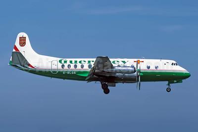 Guernsey Airlines Vickers Viscount 806 G-BLOA (msn 259) JER (Richard Vandervord). Image: 949104.
