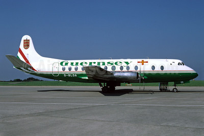 Guernsey Airlines Vickers Viscount 806 G-BLOA (msn 259) (Richard Vandervord). Image: 910979.