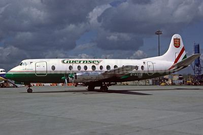 Guernsey Airlines Vickers Viscount 806 G-AOYG (msn 256) (Richard Vandervord). Image: 910978.