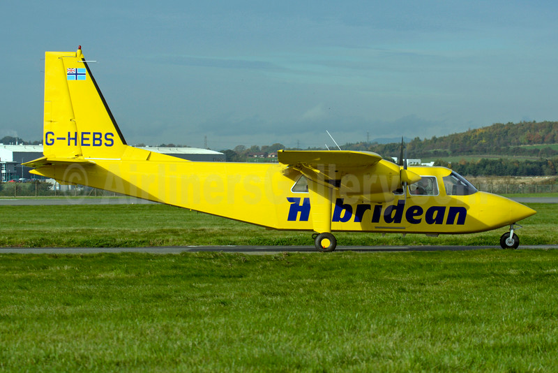 Hebridean Air Services Britten-Norman BN-2A-26 Islander G-HEBS (msn 2267) GLA (Fred Seggie). Image: