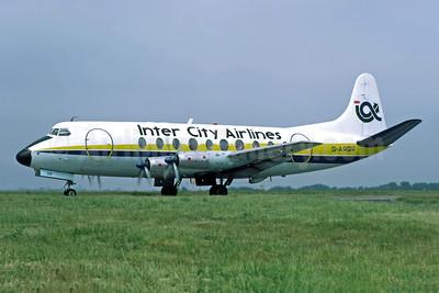 Inter City Airlines Vickers Viscount 708 G-ARGR (msn 14) JER (Richard Vandervord). Image: 949113.