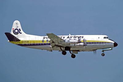 Inter City Airlines Vickers Viscount 708 G-ARGR (msn 14) JER (Richard Vandervord). Image: 949112.