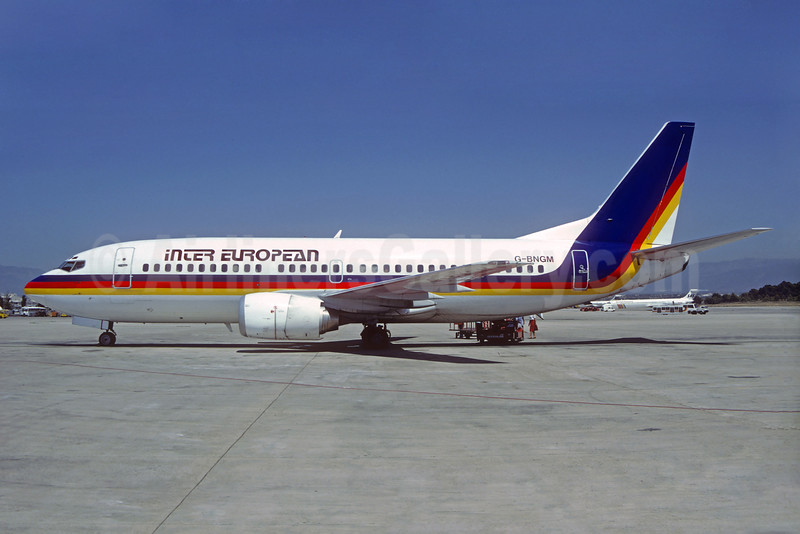 Inter European Airways (IEA) Boeing 737-3Y0 G-BNGM (msn 23925) (TACA colors) PMI (Christian Volpati Collection). Image: 932271.