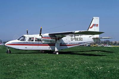 Jersey European Airways-JEA Britten-Norman BN-2A-26 Islander G-BESO (msn 2004) JER (Richard Vandervord). Image: 949121.