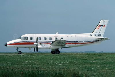 Jersey European Airways-JEA Embraer EMB-110P1 Bandeirante G-BHJY (msn 110256) JER (Richard Vandervord). Image: 949124.