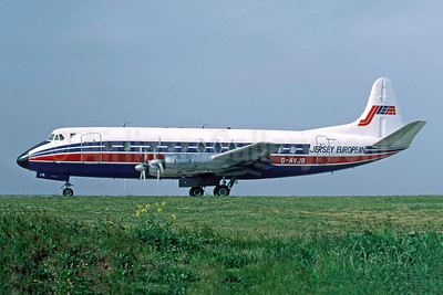 Jersey European Airways-JEA Vickers Viscount 815 G-AVJB (msn 375) JER (Richard Vandervord). Image: 949119.