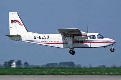 Jersey European Airways-JEA Britten-Norman BN-2A-26 Islander G-BESO (msn 2004) JER (Richard Vandervord). Image: 949122.