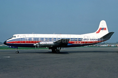 Jersey European Airways-JEA Vickers Viscount 815 G-AVJB (msn 375) (Richard Vandervord). Image: 934118.