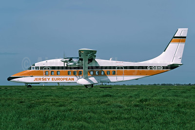 Jersey European Airways Short Brothers SD3-60 G-OBHD (msn SH.3714) JER (Richard Vandervord). Image: 949120.