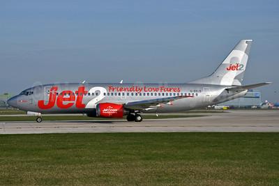 Jet2-Jet2.com Boeing 737-33A G-CELD (msn 23832) (Friendly Low Fares) MAN (Richard Vandervord). Image: 906025.