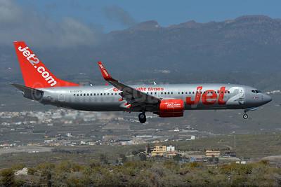 Jet2-Jet2.com Boeing 737-8Z9 WL G-GDFS (msn 32243) (Great flight times) TFS (Paul Bannwarth). Image: 927691.