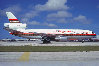 Laker Airways (UK) McDonnell Douglas DC-10-30 G-BGXE (msn 47811) (Skytrain) MIA (Jacques Guillem Collection). Image: 934138.
