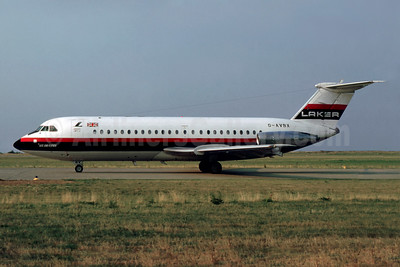 Laker Airways (UK) BAC 1-11 320AZ G-AVBX (msn 109) EMA (SM Fitzwilliams Collection). Image: 927668.