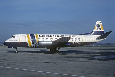 Loganair (BAF) Vickers Viscount 802 G-AOHM (msn 162) (British Air Ferries colors) LGW (Christian Volpati Collection). Image: 927464.