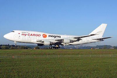 MyCargo Airlines-HNA-Magma Aviation Boeing 747-433 (F) TC-ACH (msn 24998) ZRH (Andi Hiltl). Image: 913506.