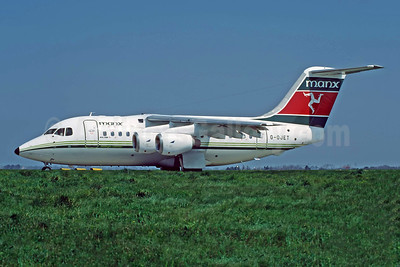 Manx Airlines BAe 146-100 G-OJET (msn E1004) JER (Richard Vandervord). Image: 949075.