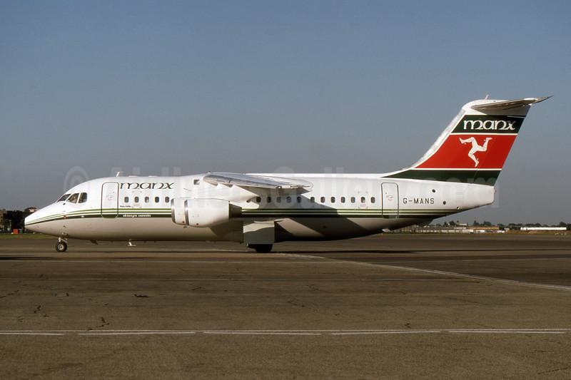 Manx Airlines BAe 146-200 G-MANS (msn E2088) LHR (SPA). Image: 940459.