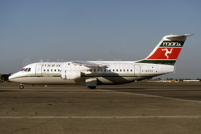 Manx Airlines BAe 146-200 G-MANS (msn E2088) LHR (SPA). Image: 940459.
