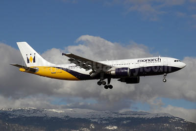 Monarch Airlines (Monarch.co.uk) Airbus A300B4-605R G-OJMR (msn 605) GVA (Paul Denton). Image: 908057.