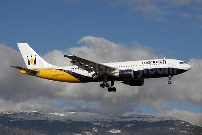 Monarch Airlines (Monarch.co.uk) Airbus A300B4-605R G-OJMR (msn 605) GVA (Paul Denton). Image: 908057.