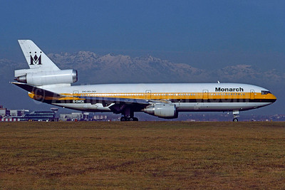 Monarch Airlines McDonnell Douglas DC-10-30 G-DMCA (msn 48266) TRN (Aldo Ciarini - Bruce Drum Collection). Image: 935035.