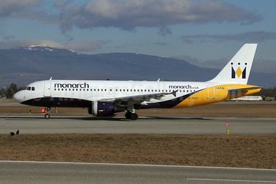 Monarch Airlines (Monarch.co.uk) Airbus A320-212 G-MPCD (msn 379) GVA (Paul Denton). Image: 908058.