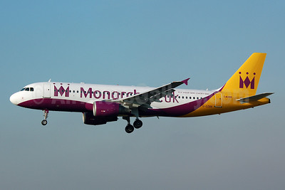 Monarch Airlines (Monarch.co.uk) Airbus A320-214 G-OZBK (msn 1370) (wrong shade of paint) MAN (Nik French). Image: 907770.