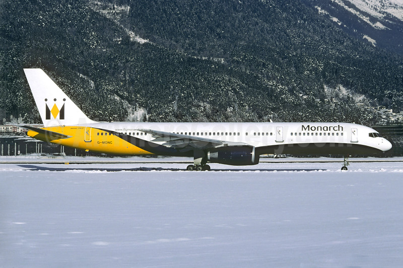 Monarch Airlines Boeing 757-2T7 G-MONC (msn 22781) INN (Christian Volpati Collection). Image: 939918.