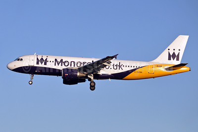 Monarch Airlines (Monarch.co.uk) Airbus A320-212 G-OZBB (msn 389) BRU (Karl Cornil). Image: 910057.