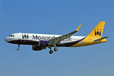 Monarch Airlines (Monarch.co.uk) Airbus A320-214 WL (F-WWBZ (G-ZBAA) (msn 5526) (Sharklets) TLS (Eurospot). Image: 911121.