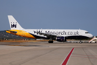 Monarch Airlines (Monarch.co.uk) Airbus A320-231 G-MPCD (msn 379) PMI (Ton Jochems). Image: 953566.