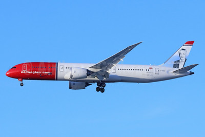 Norwegian.com (Norwegian Air UK) Boeing 787-9 Dreamliner G-CIXO (msn 62082) (Victor Borge, Danish Pianist and Humorist) LAX (Michael B. Ing). Image: 937373.