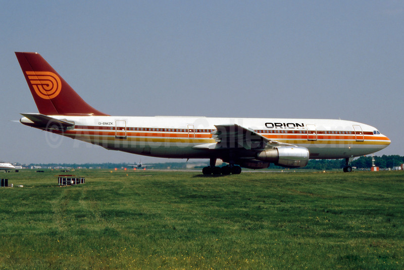 Orion Airways (2nd) Airbus A300B4-2C G-BMZK (msn 076) LGW (SM Fitzwilliams Collection). Image: 909992.