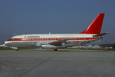 Orion Airways (2nd) Boeing 737-2L9 G-BKAP (msn 21685) (Malaysian - Dan-Air London colors) LGW (Christian Volpati Collection). Image: 932258.