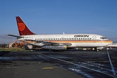 Orion Airways (2nd) Boeing 737-2Q8 G-BGTY (msn 21960) MAN (George Ditchfield - Rob Rindt Collection). Image: 952064.