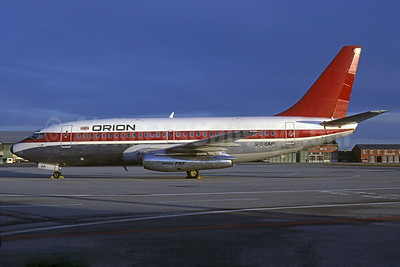 Orion Airways (2nd) Boeing 737-2L9 G-BKAP (msn 21685) (Malaysian - Dan-Air London colors) (Rob Rindt Collection). Image: 925093.