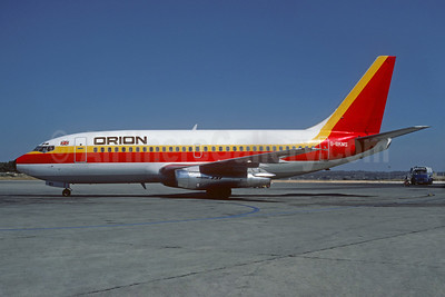 Orion Airways (2nd) Boeing 737-2Q8 G-BKMS (msn 22453) (Air Belgium colors) PMI (Christian Volpati Collection). Image: 932260.