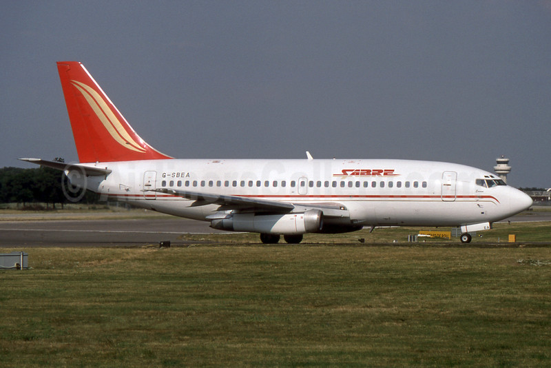 Sabre Airways Boeing 737-204 G-SBEA (msn 21694) LGW (SPA). Image: 931742.