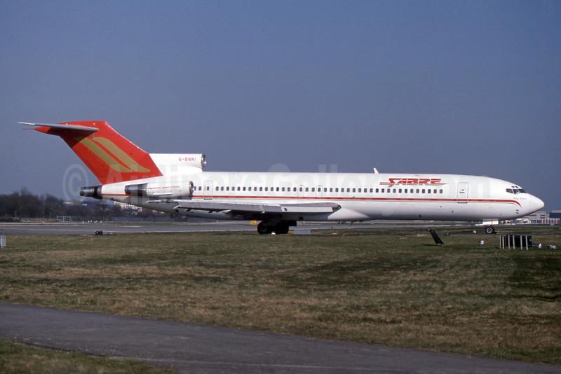 Sabre Airways Boeing 727-276 G-BNNI (msn 20950) LGW (SPA). Image: 931745.